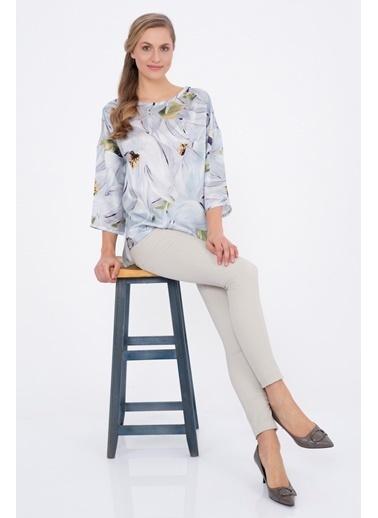 Silk and Cashmere Bluz Gri